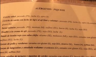 carta alérgenos Ronda 14